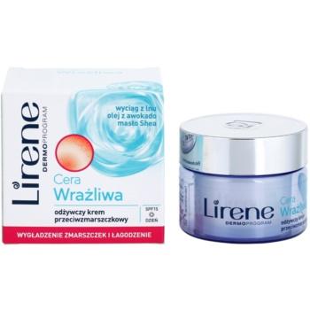 Lirene Sensitive Skin nährende Anti-Falten Creme SPF 15 1