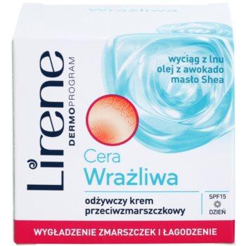 Lirene Sensitive Skin nährende Anti-Falten Creme SPF 15 2