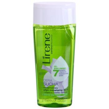 Lirene Dry Skin água micelar de limpeza 3 em 1