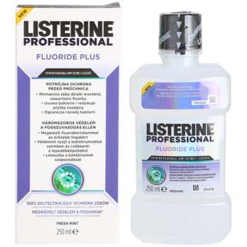 Listerine Professional Fluoride Plus elixir bocal anticárie 1