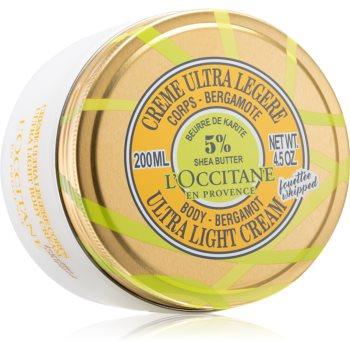 L'Occitane Shea Butter Body-Bergamot Ultra Light Cream cremă de corp ultra lejeră unt de shea