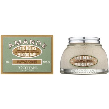 L'Occitane Amande telový peeling s mandľovým olejom 1