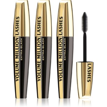 L'Oréal Paris Volume Million Lashes Extra Black mascara pentru volum și alungire Black (3 pc) culoare