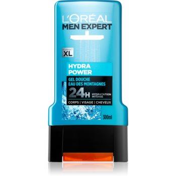 L'Oréal Paris Men Expert Hydra Power gel de dus pentru față, corp și păr