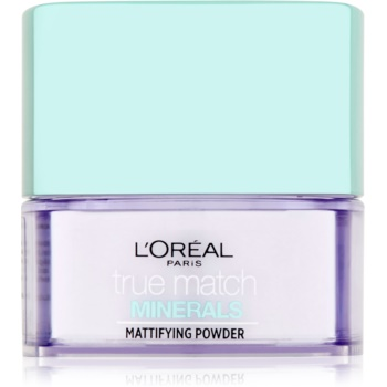 L'Oréal Paris True Match Minerals pudra transparent cu efect matifiant