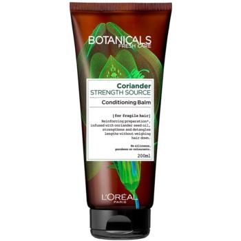 Fotografie L'Oréal Paris Botanicals Strength Cure balzám pro oslabené vlasy Coriander 200 ml