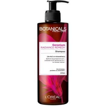 Fotografie L'Oréal Paris Botanicals Radiance Remedy šampon pro barvené vlasy Geranium 400 ml