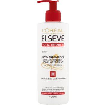 LOréal Paris Elseve Total Repair 5 Low Shampoo cremă de îngrijire pentru spălare pentru par uscat si deteriorat