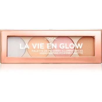 L'Oréal Paris Wake Up & Glow La Vie En Glow paleta cu crema iluminatoare culoare 02 Cool Glow 5 g