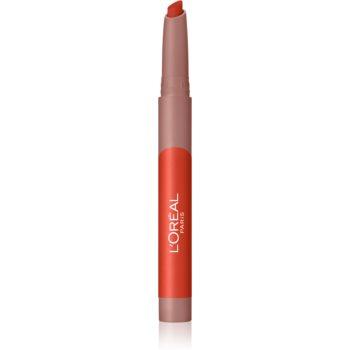 L'Oréal Paris Infallible Matte Lip Crayon ruj in creion cu efect matifiant poza noua