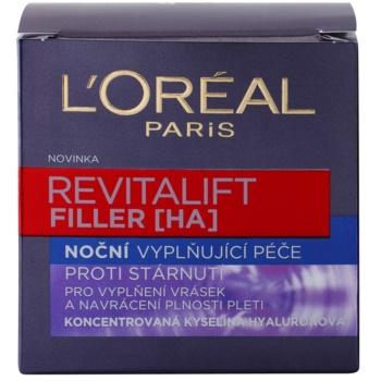 L'Oréal Paris Revitalift Filler попълващ нощен крем анти стареене 3