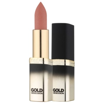 Image of L'Oréal Paris Color Riche Gold Obsession Lipstick With 24 Carat Gold Color Nude Gold 7 ml