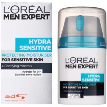 L'Oréal Paris Men Expert Hydra Sensitive хидратиращ крем  за чувствителна кожа на лицето 1