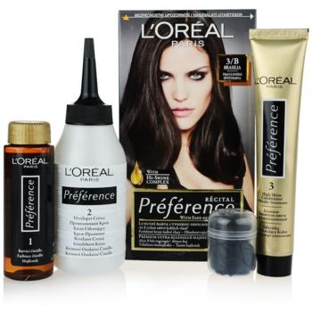 Fotografie L'Oréal Paris Préférence barva na vlasy odstín 3/B Brasilia