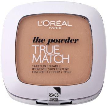 Fotografie L'Oréal Paris True Match kompaktní pudr odstín 3R/3C Rose Beige 9 g