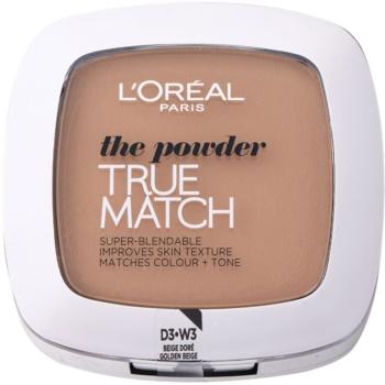 L'Oréal Paris True Match kompaktní pudr odstín 3D/3W Golden Beige 9 g