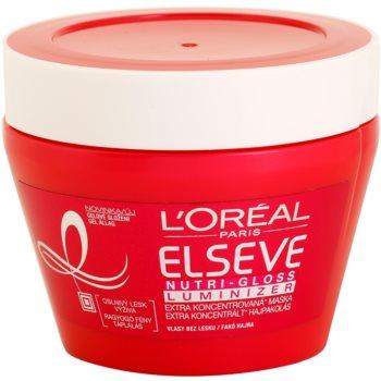 L'Oréal Paris Elseve Nutri-Gloss Luminizer hranilna maska za lase za sijaj