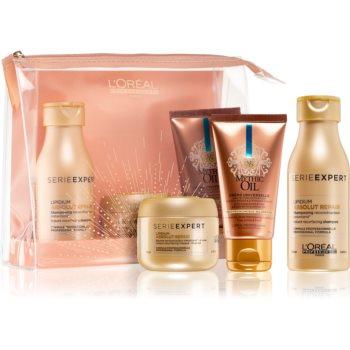L'Oréal Professionnel Serie Expert pečující šampon pro velmi poškozené vlasy 100 ml + obnovující mas
