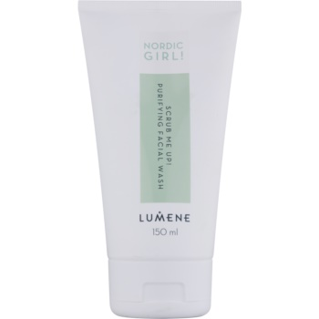 Lumene Nordic Girl! Scrub Me Up! gel de curatare exfoliant pentru pielea cu imperfectiuni  150 ml