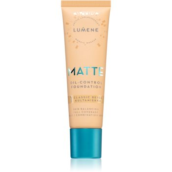 Lumene Matte Oil-Control Foundation make-up fluid pentru ten gras și mixt