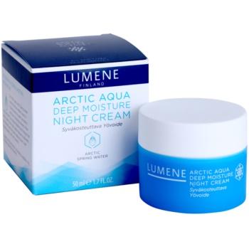 Lumene Arctic Aqua creme de noite hidratação profunda para pele normal e seca 3