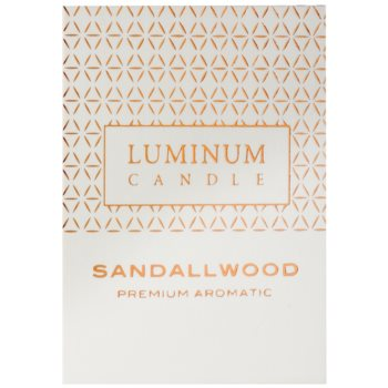 Luminum Candle Premium Aromatic Sandallwood Duftkerze    mittlere (Pillar 60 - 80 mm, 32 Hours) 2