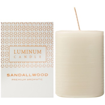 Luminum Candle Premium Aromatic Sandalwood lumanari parfumate mediu (Ø 60 - 80 mm, 32 h)