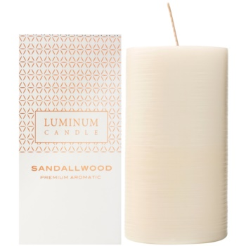 Luminum Candle Premium Aromatic Sandallwood Duftkerze    große (Pillar 70 - 130 mm, 65 Hours)
