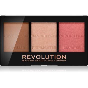 Makeup Revolution Ultra Sculpt & Contour paleta pentru contur facial poza noua