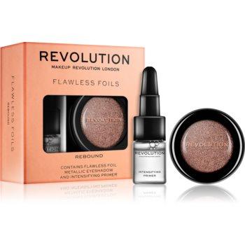 Makeup Revolution Flawless Foils farduri de ochi metalice, cu bază de machiaj poza noua