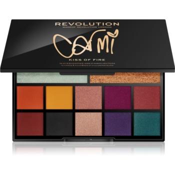 Makeup Revolution Carmi paleta ce contine iluminator si fard de pleoape imagine produs