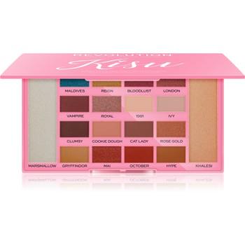 Makeup Revolution X Kisu Palette mit Lidschatten und Highlightern 24 g