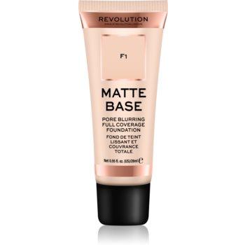 Makeup Revolution Matte Base acoperire make-up poza noua