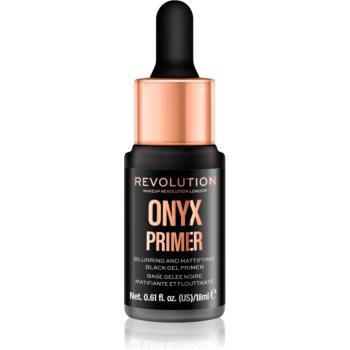 Makeup Revolution Onyx Primer bază de machiaj matifiantă, sub fondul de ten poza noua