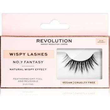 Makeup Revolution False Lashes Wispy Klebewimpern + Kleber 1 ml NO.7 Fantasy