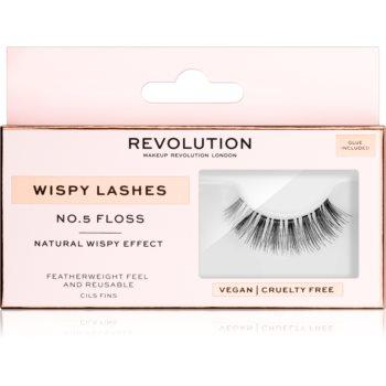 Makeup Revolution False Lashes Wispy Klebewimpern + Kleber 1 ml NO.6 Flutter