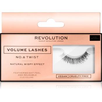 Makeup Revolution False Lashes Volume Klebewimpern + Kleber 1 ml NO.8 Twist