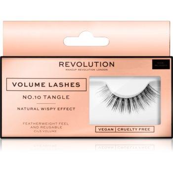 Makeup Revolution False Lashes Volume Klebewimpern + Kleber 1 ml NO.10 Tangle