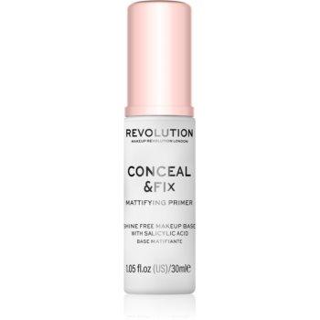 Makeup Revolution Conceal & Fix bază de machiaj matifiantă, sub fondul de ten poza noua