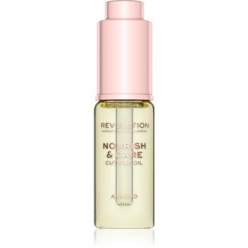 Makeup Revolution Nourish & Care tratament intensiv pentru unghii și cuticule uscate cu ulei de migdale poza noua