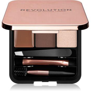 Makeup Revolution Brow Sculpt Kit set pentru sprancene perfecte imagine produs