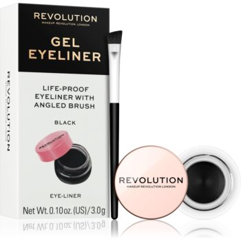 Makeup Revolution Gel Eyeliner Pot eyeliner-gel cu pensula poza noua