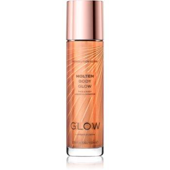 Makeup Revolution Glow Molten iluminator lichid pentru fata si corp poza noua