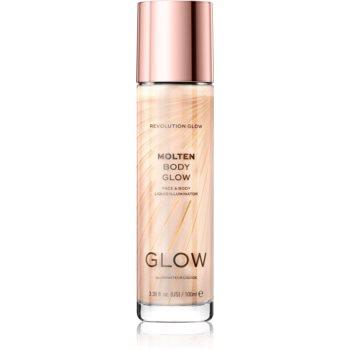Makeup Revolution Glow Molten iluminator lichid pentru fata si corp imagine produs