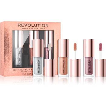 Makeup Revolution Shimmer Bomb set cu luciu de buze