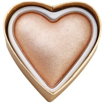 Fotografie Makeup Revolution I ♥ Makeup Blushing Hearts rozjasňující pudr bohyně věrnosti 10 g