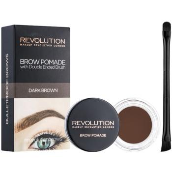 Makeup Revolution Brow Pomade Spancene Pomada culoare Dark Brown 2,5 g