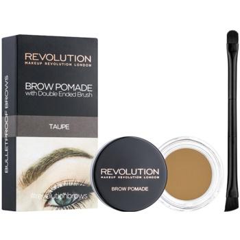 Makeup Revolution Brow Pomade Spancene Pomada culoare Taupe 2,5 g