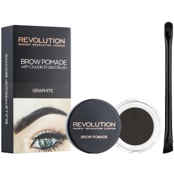 Makeup Revolution Brow Pomade Spancene Pomada culoare Graphite 2,5 g