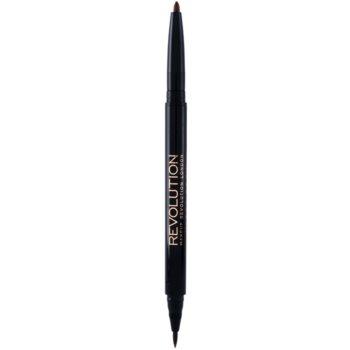 Makeup Revolution Ultra Brow Arch & Shape lápis de sobrancelhas 2 em 1